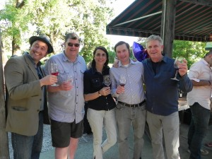From left: Daedalus Howell, Brian Murphy, Eva Bertran, me, and David Bolling.