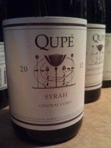 One of the best values in the marketplace, the Qupe 2012 Central Coast Syrah.