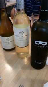 Refreshing white wines by Michael David served with our luncheon at the Phillips Farms Cafe in Lodi. @MDWinery @Lodi_Wine.