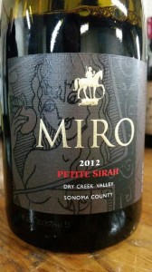 The Madara Horseman on the label of the Miro Cellars 2012 Petite Sirah is based on a Bulgarian monument carved in bas relief on a cliff twenty three meters above ground. This mysterious sculpture was created at the beginning of the eighth century during the birth of the Bulgarian nation.