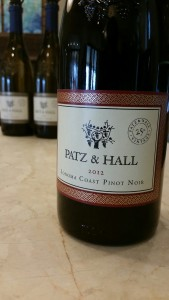 The Patz & Hall 2014 Sonoma Coast Pinot Noir, one of the brilliant wines featured at the upcoming SIFF 2015.