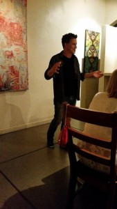 Gastronaut Bob Blumer introduces the first course to guest at Jessup Cellars near downtown Yountville.