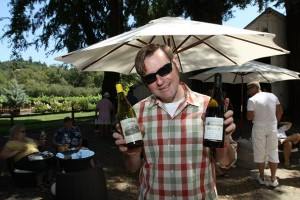 Ready for action at MacMurry Ranch for Taste of Sonoma, a few years back.