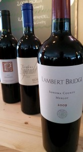 Fabulous lineup of wines from Sonoma County producers Lambert Bridge Winery, Sehesio Family Vineyards and Parmeson Wines.