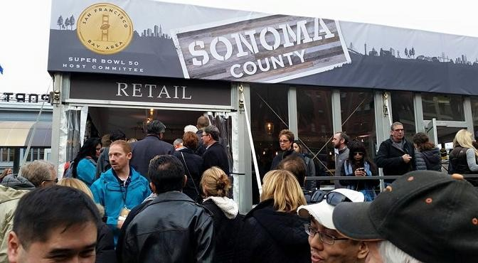 Celebrating Sonoma County wines at Super Bowl City!
