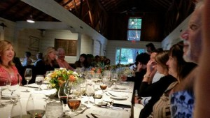 Enjoying the fabulous Judges Dinner at MacMurray Ranch in Russian River Valley.