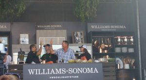 """Celebrating """"The Catch"""" (aka a magnificent Salmon dish) prepared by star Chef Michael Mina and guest sous chef, 49ers legend Dwight Clark!"""