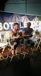 Discussing the beauties of Bottle Rock Napa and great charitable works done by singer Michael Franti & Co!