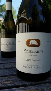 Two world-class Chardonnay offerings from special sites in San Luis Obispo County: Talley 2013 Estate from Rosemary's Vineyard and #Sinor-LaVallee 2014 from Bassi Vineyard.