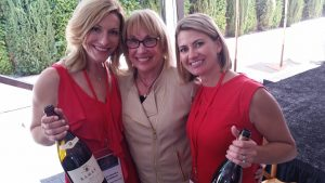 My fun photo of Jean Arnold Sessions with Alexandra O'Gorman of Ramey Wines and Summer Kostik Jeffus of Deutsch Family Wine & Spirits at the Sonoma County Barrel Auction in April.