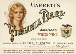 Classic Virginia Dare white wine label.