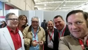 #SawyerSelfieDeluxe with my fellow American wine judges at the Concours Mondail de Bruxelles International Wine Competition (from left): Master Sommelier Robin O'Conner; Wine Business Monthly Assistant Editor Eric Kirschenmann; Wine Guru/Sommelier Charlie Arturaola of Grappolo Blu, Inc; Mike DeSimone and Jeff Jenssen of the Wine Enthusiast/World Wine Guys.
