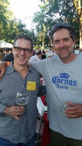 Failla winemaker Ehren Jordan with our friend Mark Freund.