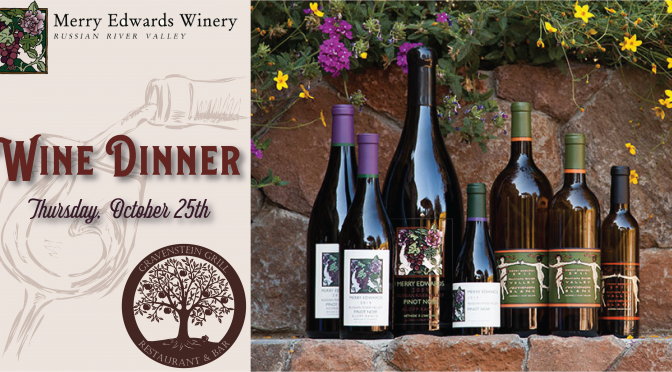 Merry Edwards Wine Dinner: October 25 at Gravenstein Grill
